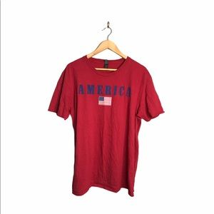 America Red T-shirt patriotic 4th of July T-shirt